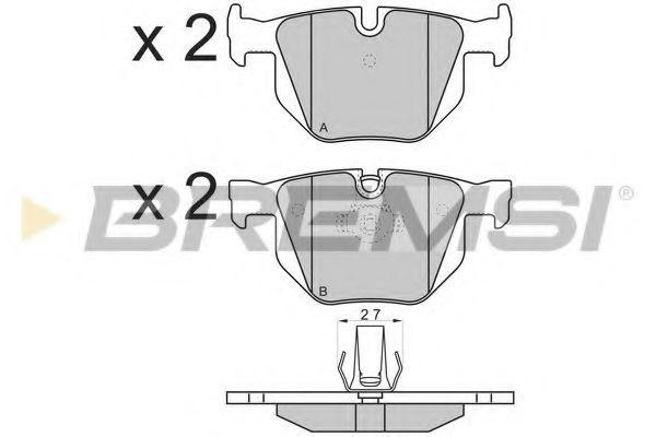 Колодки тормозные задние BMW 3(E90)/5(E60) (ATE) (122x58,2x17)  арт. BP3173