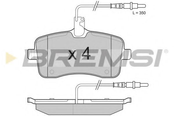 Колодки тормозные передние Peugeot 407 04- (TRW) (131,4x66,8x19,5)  арт. BP3182