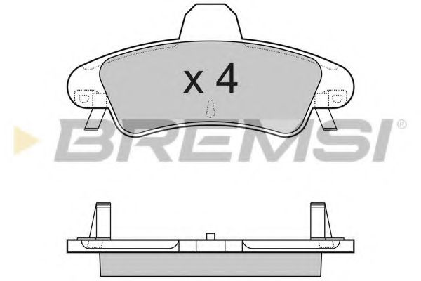 Тормозные колодки зад. Ford Mondeo 93-00 (bendix) (115,7x53,7x14,7)  арт. BP3188