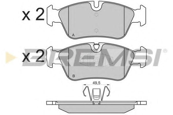 Колодки тормозные передние BMW 3(E90)/1(E81) 04-13 (ATE) (149,5x57,5x17,8)  арт. BP3193