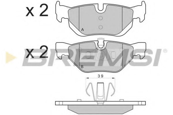 Колодки тормозные задние BMW 3(E90)/1(E81) 04-13 (ATE) (123x43,6x17,3)  арт. BP3194