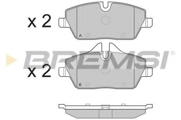 Колодки тормозные передние BMW 1(E81/E87)/MINI 06- (TRW)  арт. BP3195