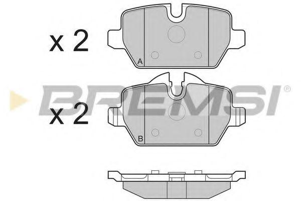 Колодки тормозные задние BMW 3(E90)/1(E81) 04-13 (TRW)   арт. BP3196