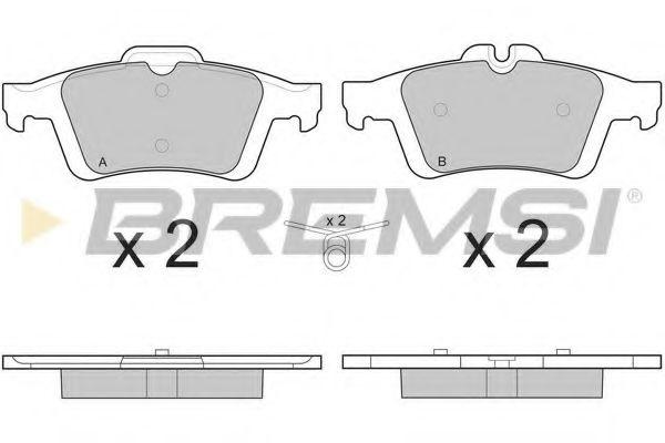 Тормозные колодки зад. Connect/Focus II//Citroen C5/Saab 9-3 01- (ATE)  арт. BP3217