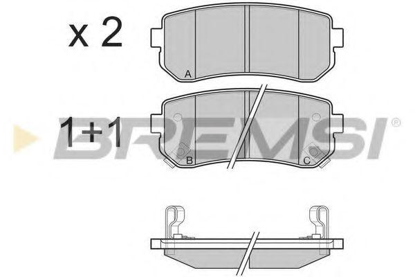 Колодки тормозные задние Hyundai Accent/Kia Rio/Cee'd 05- (mando)  арт. BP3241