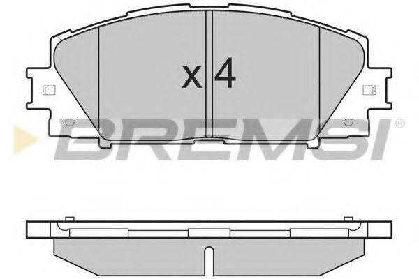 Колодки тормозные передние Toyota Yaris 07- (akebono)  арт. BP3249