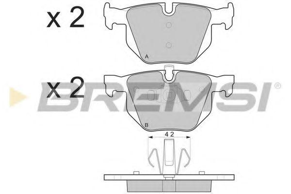 Колодки тормозные задние BMW 3(E90)/5(E60) (ATE) (123x58,1x17,3)  арт. BP3263