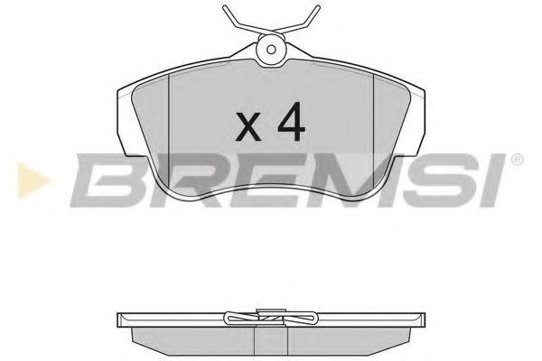 Тормозные колодки зад. Scudo/Expert 07-  арт. BP3284