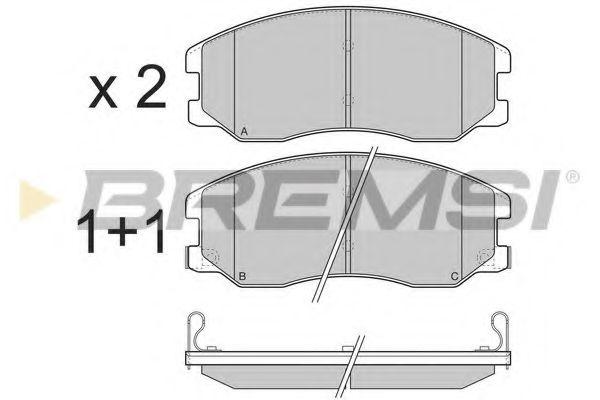 Колодки тормозные передние Chevrolet Captiva 06- (akebono)  арт. BP3303