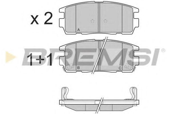 Колодки тормозные задние Chevrolet Captiva 06- (akebono)  арт. BP3304
