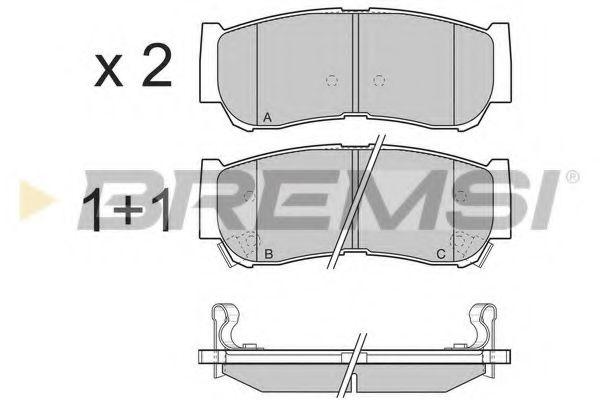 Колодки тормозные задние Hyundai Santa FE 06-12 (mando) (118,6x47x15,6)  арт. BP3314