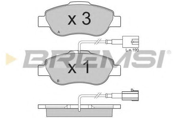 Тормозные колодки перед. Fiat 500/Panda 04-  арт. BP3325