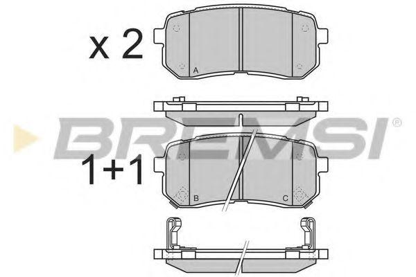 Колодки тормозные задние Hyundai H-1 08- (mando)  арт. BP3337