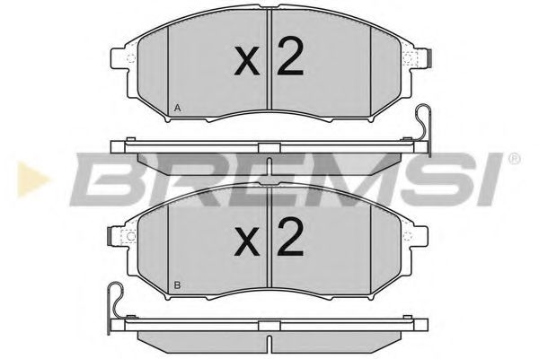 Тормозные колодки перед. Nissan Qashqai 07-13/Pathfinder 05- (sumitomo)  арт. BP3350