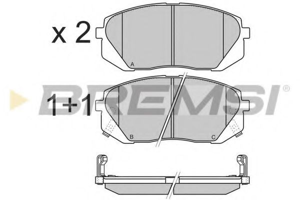 Колодки тормозные передние Kia Carens 07-/Sportage 04- (mando)  арт. BP3358