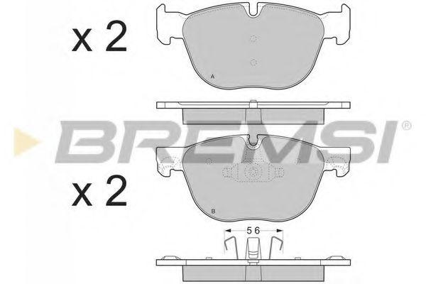 Тормозные колодки перед. BMW X5/X6 07- (ATE)  арт. BP3371
