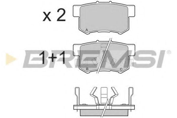 Колодки тормозные задние Honda Accord VIII/CR-V 01-06 08- (akebono)  арт. BP3374