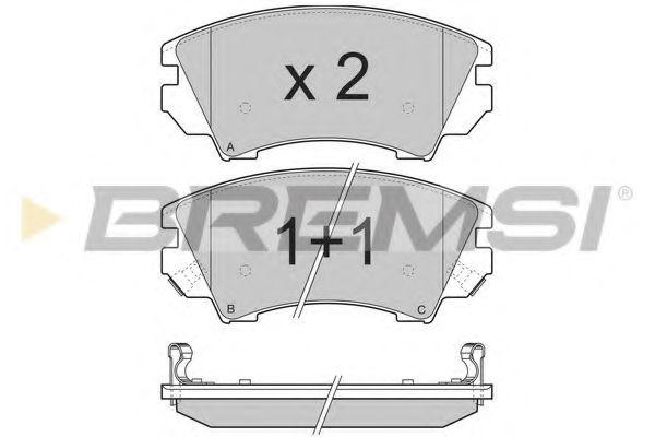 Тормозные колодки перед. Opel Astra J 09-/Insignia 08- (Mando)  арт. BP3377