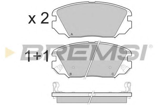 Колодки тормозные передние Hyundai Tucson 04-10 (mando) (131,5x60,2x17,5)  арт. BP3401