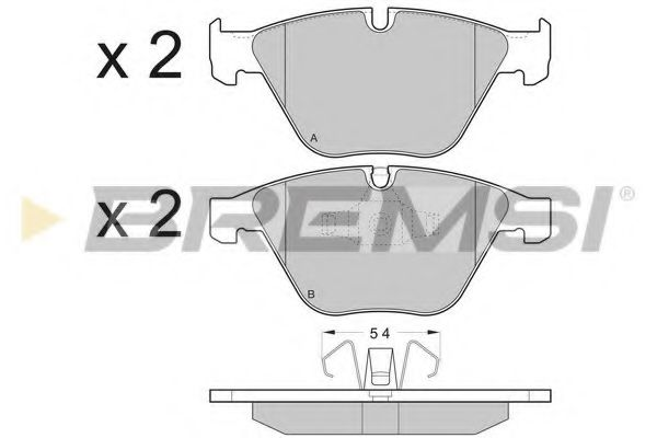 Колодки тормозные передние BMW 3 (E90)/5 (E60)/7 (E65) 02-13 (ATE)  арт. BP3403