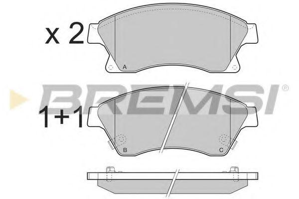 Колодки тормозные передние Aveo 11-/Astra J 09- (Bosch)  арт. BP3404