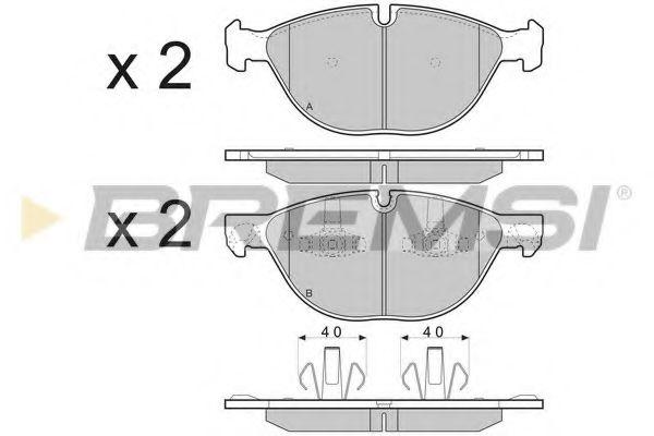 Колодки тормозные передние BMW X5 07- (ATE)  арт. BP3409