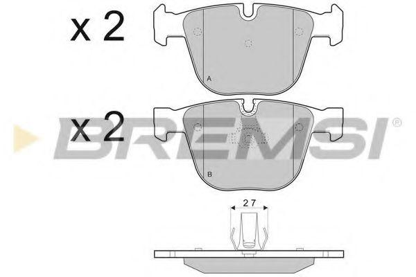 Колодки тормозные задние BMW X5 09- (ATE)  арт. BP3410