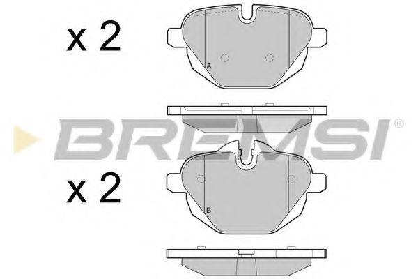 Колодки тормозные задние BMW 5 (F10)/X3 (F25) 10- (TRW)  арт. BP3449