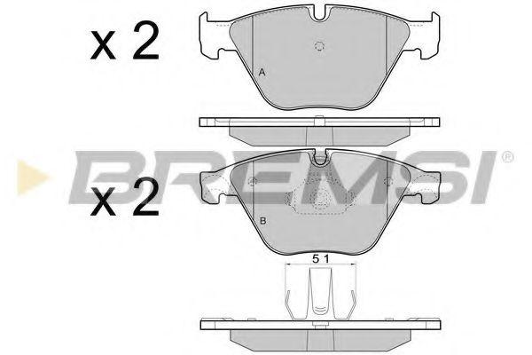 Колодки тормозные передние BMW 5 (F10) 10- (ATE) (155,1x68,5x18,9)  арт. BP3452