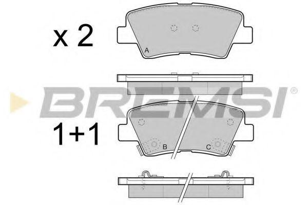 Колодки тормозные задние Hyundai i30/i40 11-/Kia Cee'd 12- (akebono)  арт. BP3471