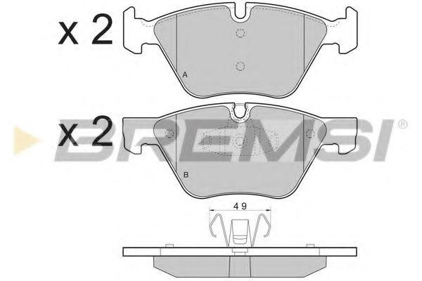 Колодки тормозные передние BMW 1 (E81/E87) 06-12 (ATE)  арт. BP3479