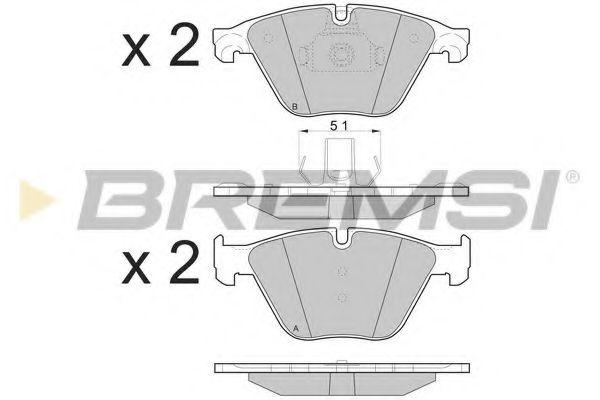 Колодки тормозные передние BMW 5 (F10) 10- (ATE)  арт. BP3500