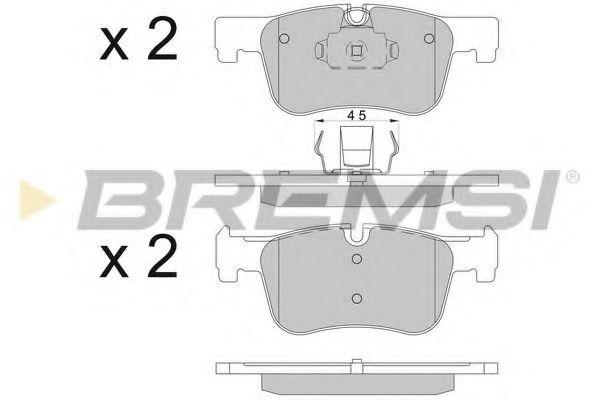 Колодки тормозные передние BMW 1(F20,F21)/ 3(F30,F31)/ 4(F36) 10- (ATE)   арт. BP3503