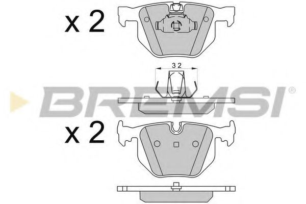 Тормозные колодки зад. BMW X5/X6 08-  арт. BP3509