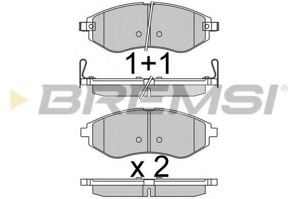 Тормозные колодки перед. Aveo 11- (Akebono) (133,2x49x17,5)  арт. BP3514