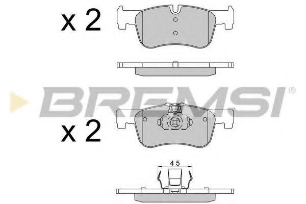 Колодки тормозные передние BMW 1 (F20/F21)/2 (F22/)F23/F87) 10- (Bendix/Bosch)  арт. BP3520