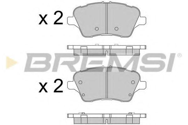 Тормозные колодки перед. Ford Courier 14-/Fiesta VI  арт. BP3545