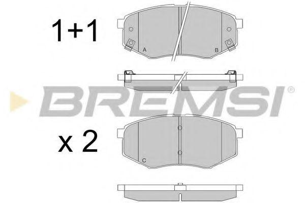 Тормозные колодки перед. Hyundai ix20/ix35 10- /Kia Sportage (SL) 10- (Mando)  арт. BP3547