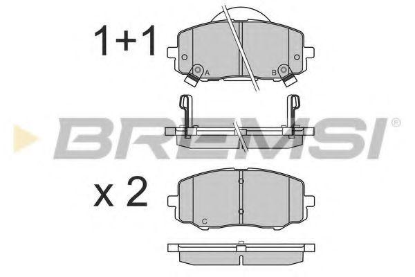 Тормозные колодки перед. Hyundai i20 08-15 (Mando)  арт. BP3583