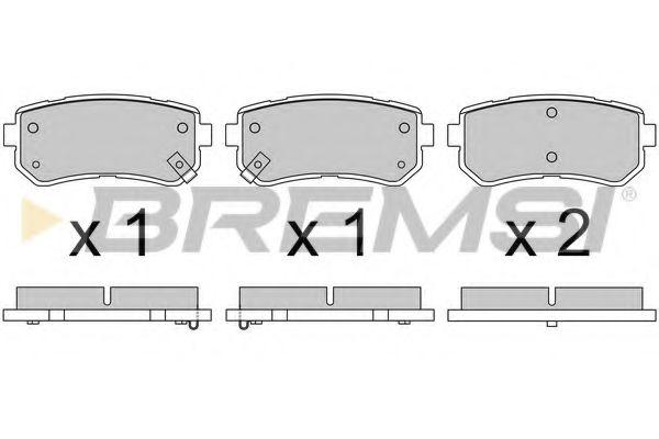 Колодки тормозные задние Sonata VI/VII/ix 35/Optima/Sportage 09- (Mando)  арт. BP3614
