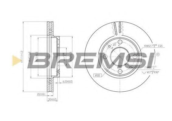Тормозной диск перед. Kangoo/Clio I/II/Megane 97- (-ABS)(238x20)  арт. DBA158V