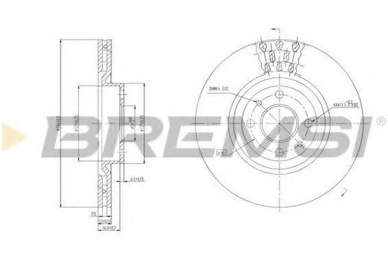 Тормозной диск перед. Doblo 05-09 (284X22)  арт. DBA220V