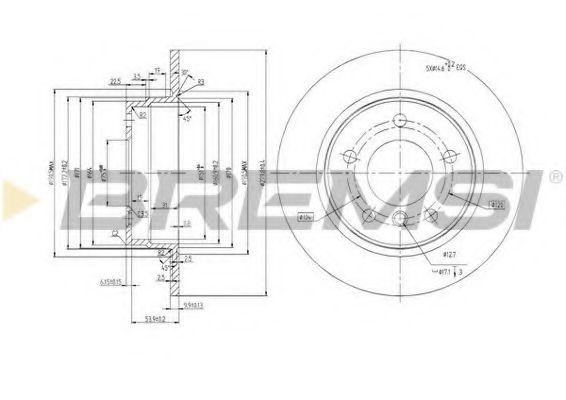 Тормозной диск зад. BMW 3 (E36/E46) 90-05 (280x10)  арт. DBA249S
