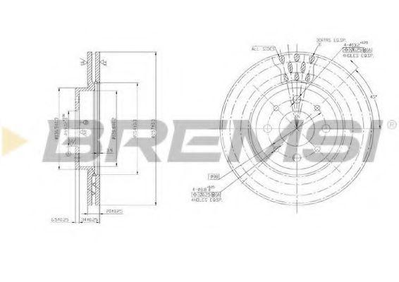 Тормозной диск перед. Doblo 01-05 (257x20)  арт. DBA521V