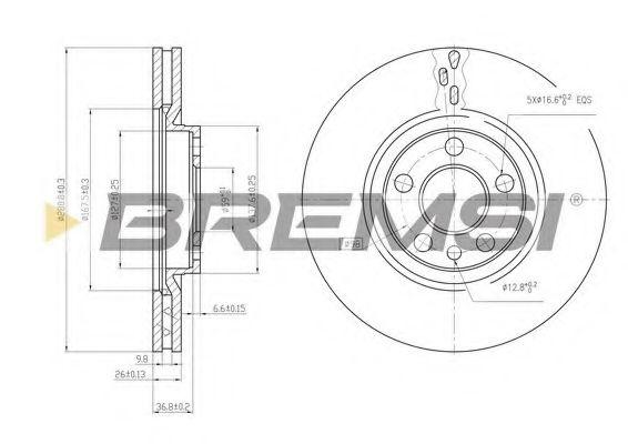 Тормозной диск перед. Scudo/Jumpy/Expert 00-04 (Lucas) (281x26)  арт. DBA760V