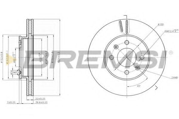 Тормозной диск перед. Accent III/IV/Rio II/III 05- (256x22)  арт. DBB603V