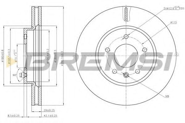Тормозной диск перед. Antara/Captiva 06- (295x29)  арт. DBB625V