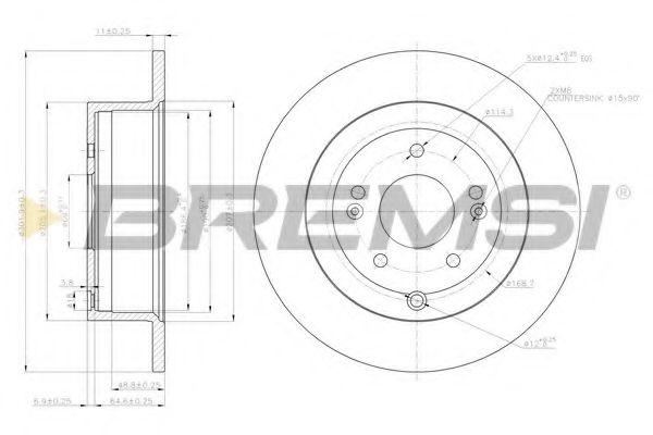 Тормозной диск зад. Santa Fe II 06- (302x11)  арт. DBB671S