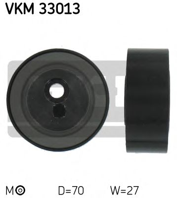 70X10X27.5 Натяжний ролик поліклинового паска PSA Berlingo/Jumpy/Scudo/406/605/Expert/Partnet 1.8D/1.9D/TD/2.0Hdi 1996- SKF VKM33013