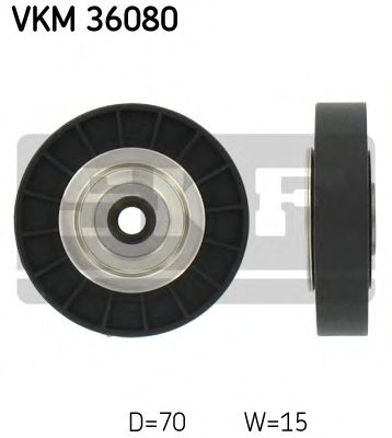 Паразитный, ведущий ролик, поликлиновой ремень (пр-во SKF)                                           SNR арт. VKM36080